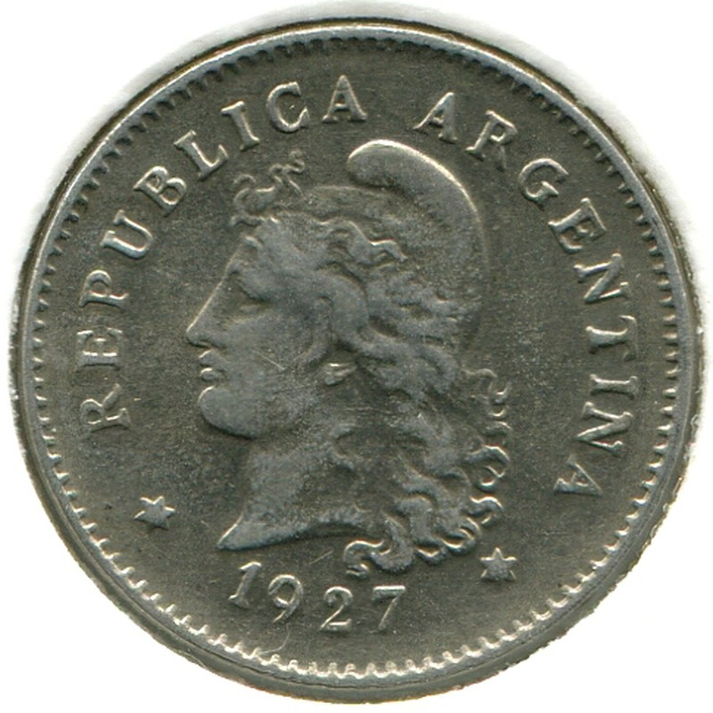 Аргентина 10 сентаво 1927 #35 XF - 1