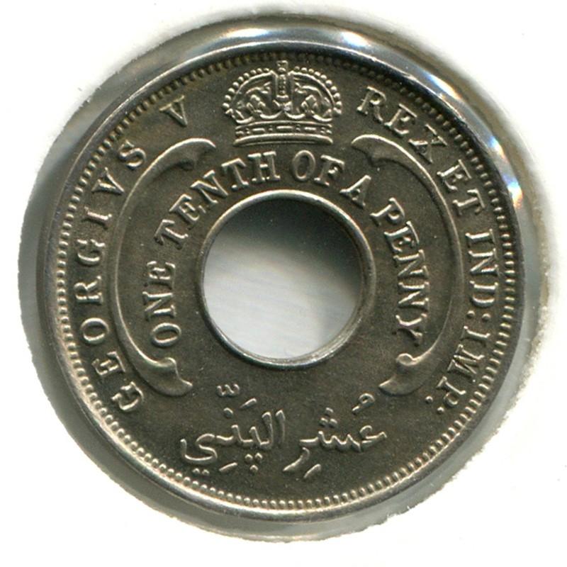 Британская Западная Африка 1/10 пенни 1928 #7 BU - 1