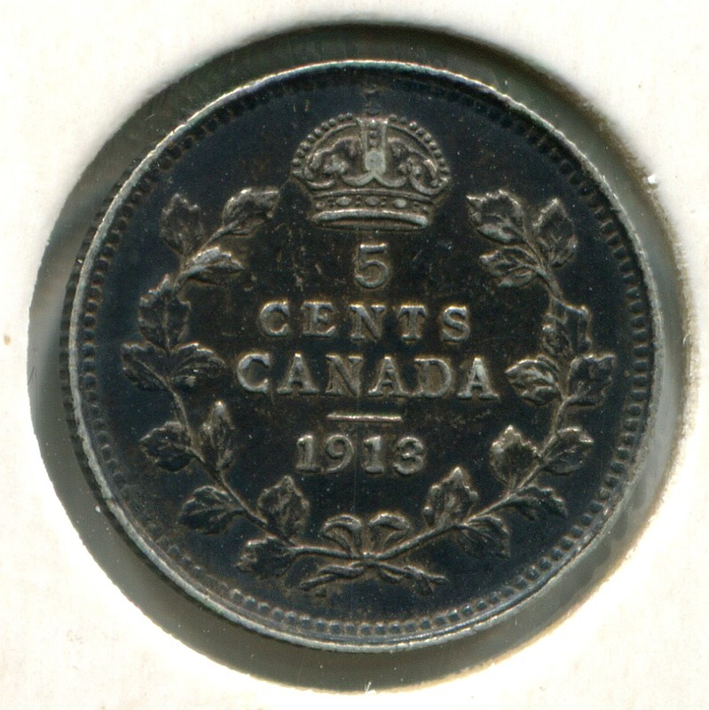 Канада 5 центов 1913 #22 XF - 1