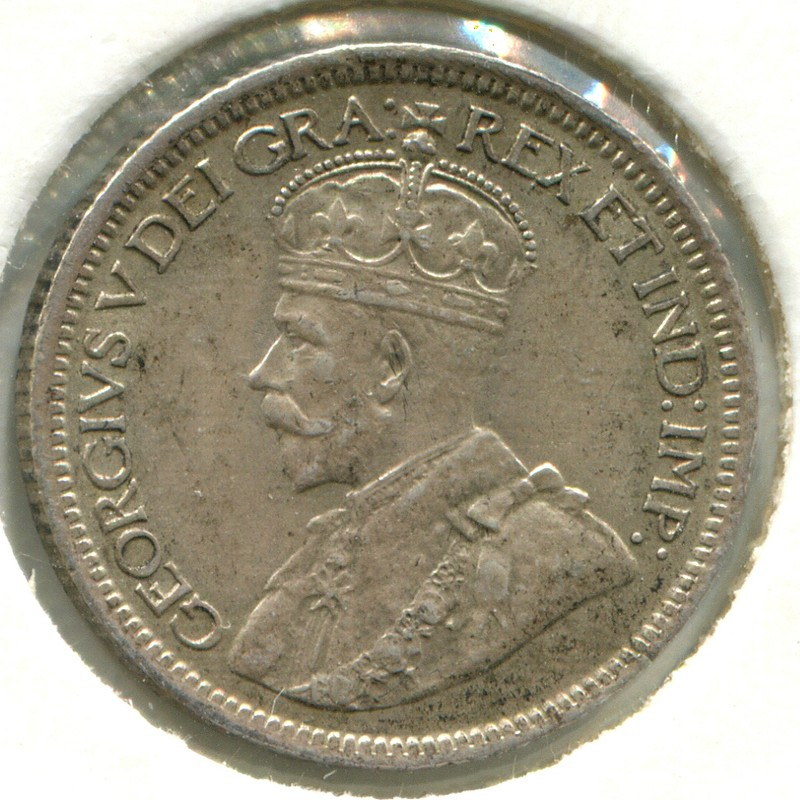 Канада 10 центов 1917 #23 XF - 1