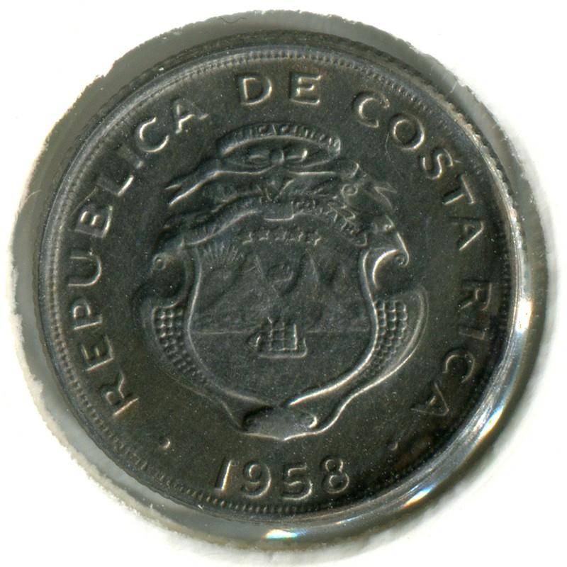 Коста-Рика 10 сантимов 1958 #185.1a BU - 1