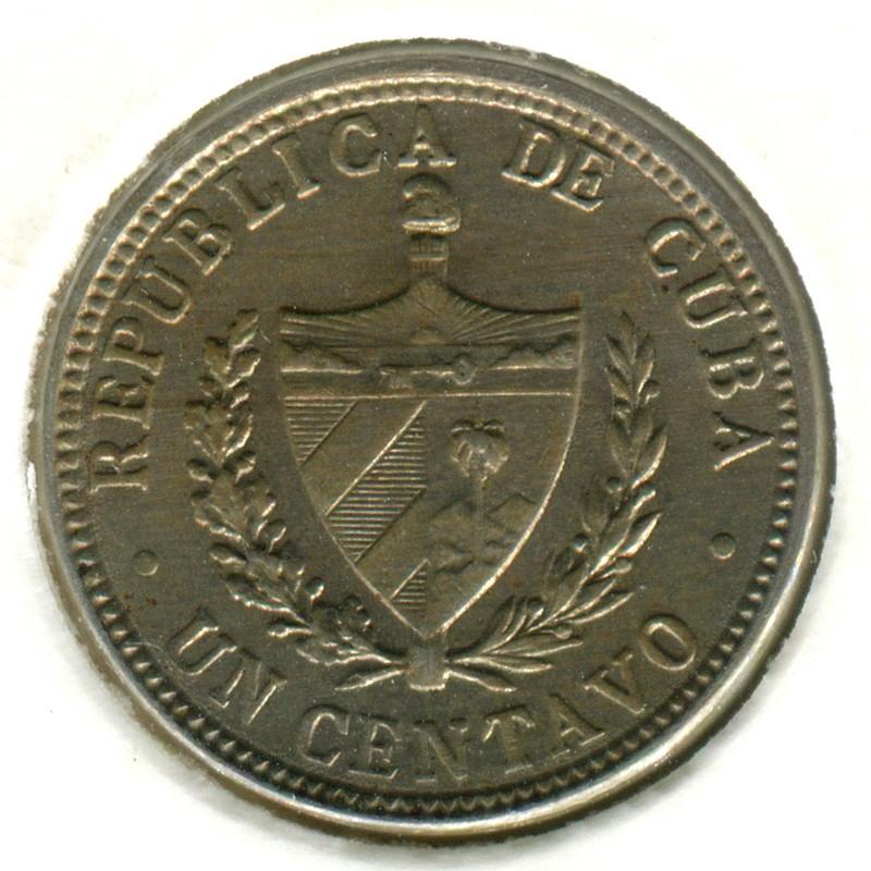 Куба 1 сентаво 1920 #9.1 AUNC - 1