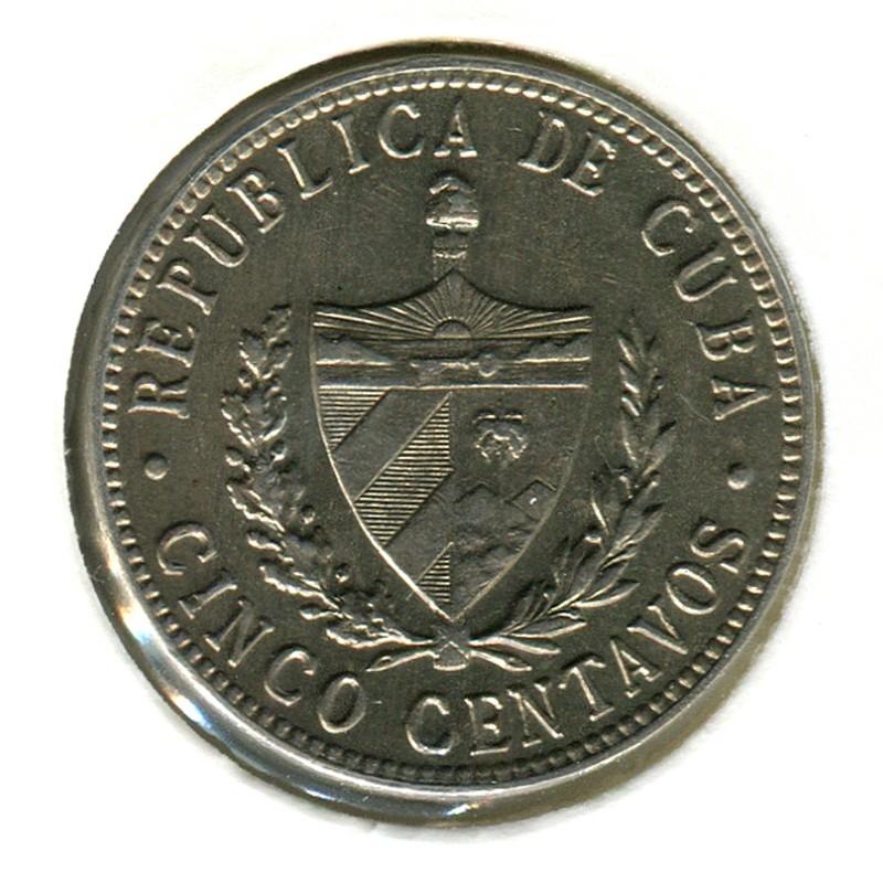 Куба 5 сентаво 1946 #11.3 UNC - 1