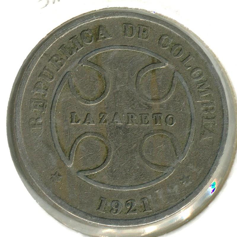 Колумбия 50 сентаво 1921 #L13 F - 1