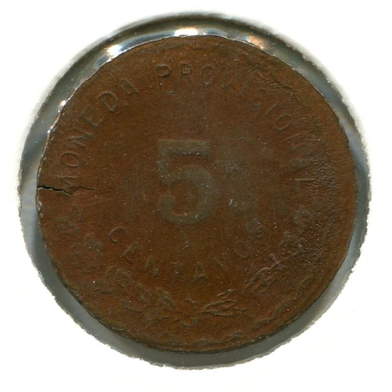 Мексика Оахака 5 сентаво 1915 #719 AUNC - 1