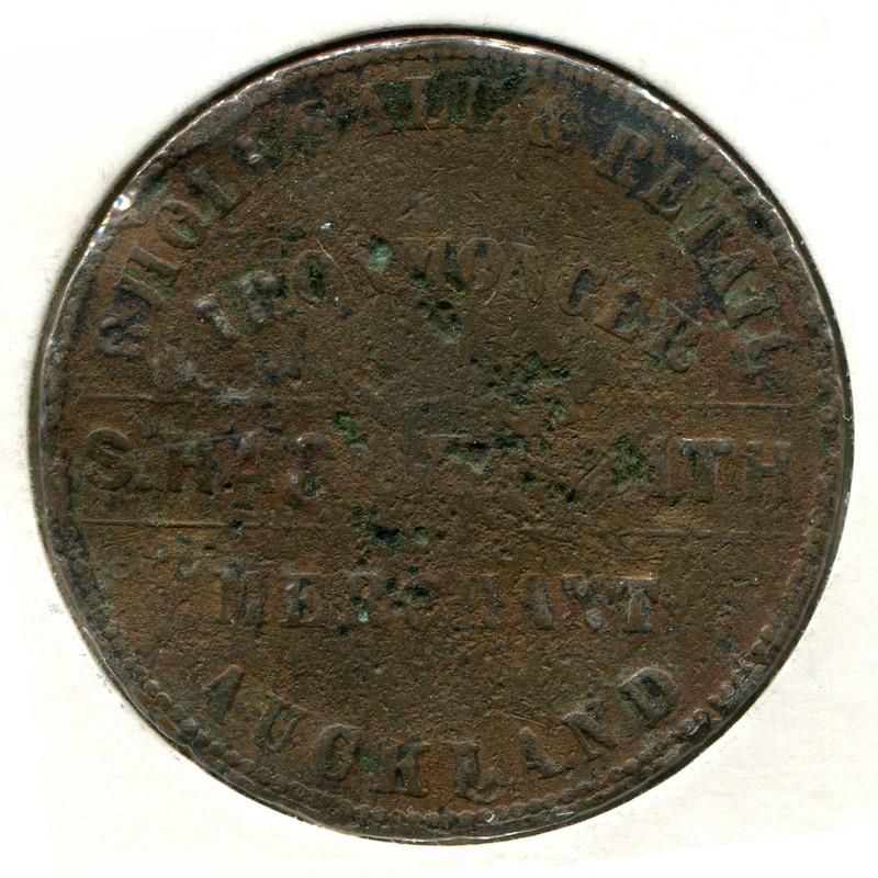 Новая Зеландия 1 пенни ND 1863 #63 VG - 1
