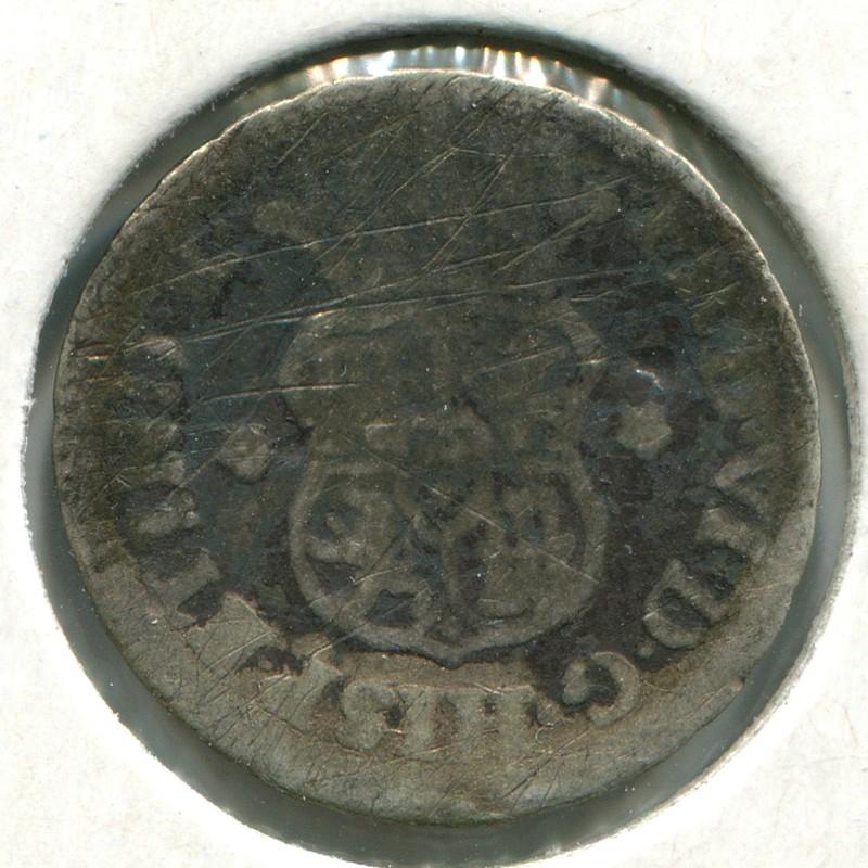 Перу 1/2 реала 1756 #51 VG - 1