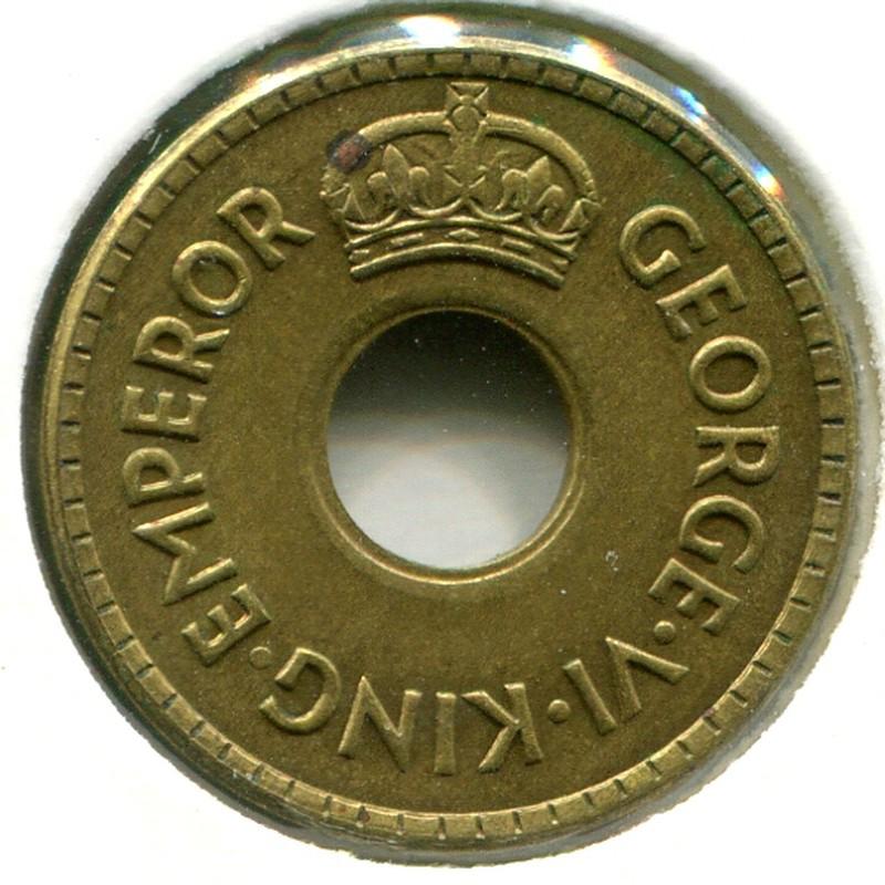 Фиджи 1/2 пенни 1942 #14a - 1