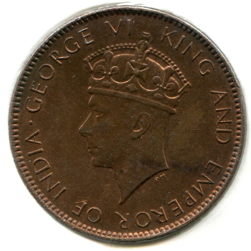 Цейлон 1 цент 1937 #111 BU - 1