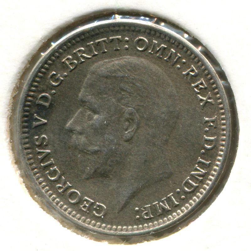 Англия 3 пенса 1931 SP 4045 aUNC - 1