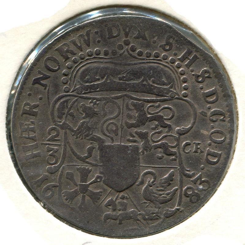 Германия Гольштейн-Готторпы 2/3 талера 1683 #79 GF - 1