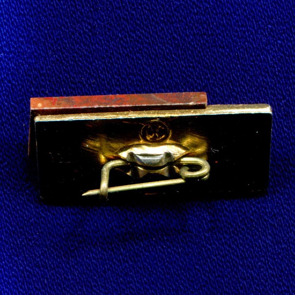 Значок «Унипромедь» Легкий металл Камень  Булавка - 1