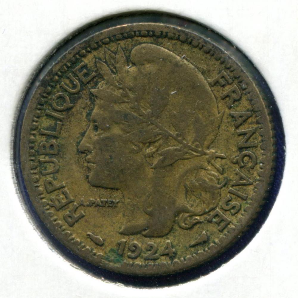 Того 1 франк 1924 VF  - 1