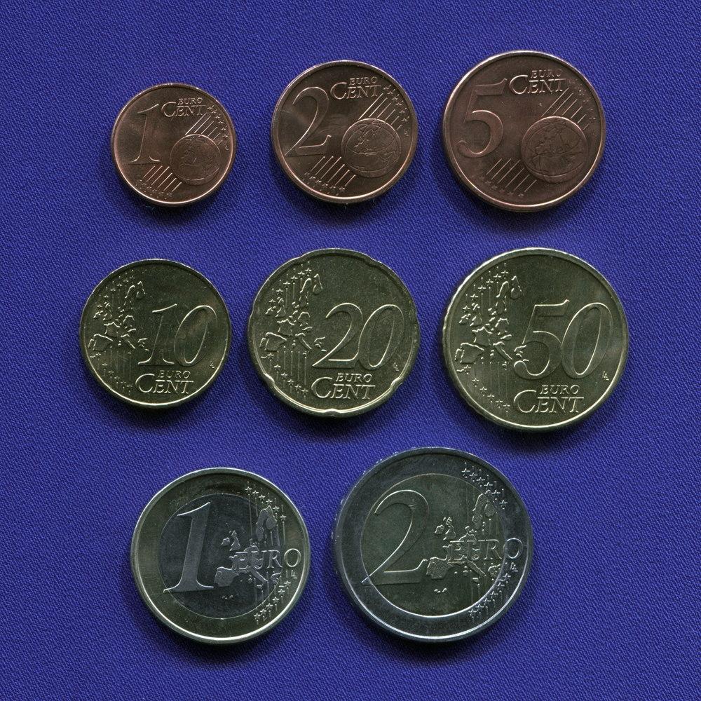 Набор монет Германии EURO 8 монет 2002 UNC - 1