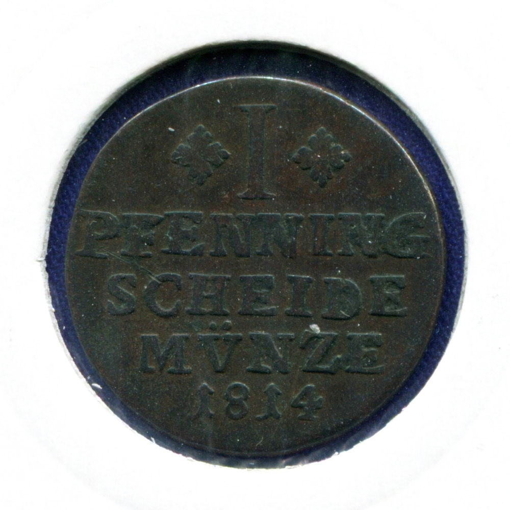 Германия/Брауншвейг-Вольфенбюттель 1 пфенниг 1814 VF  - 1