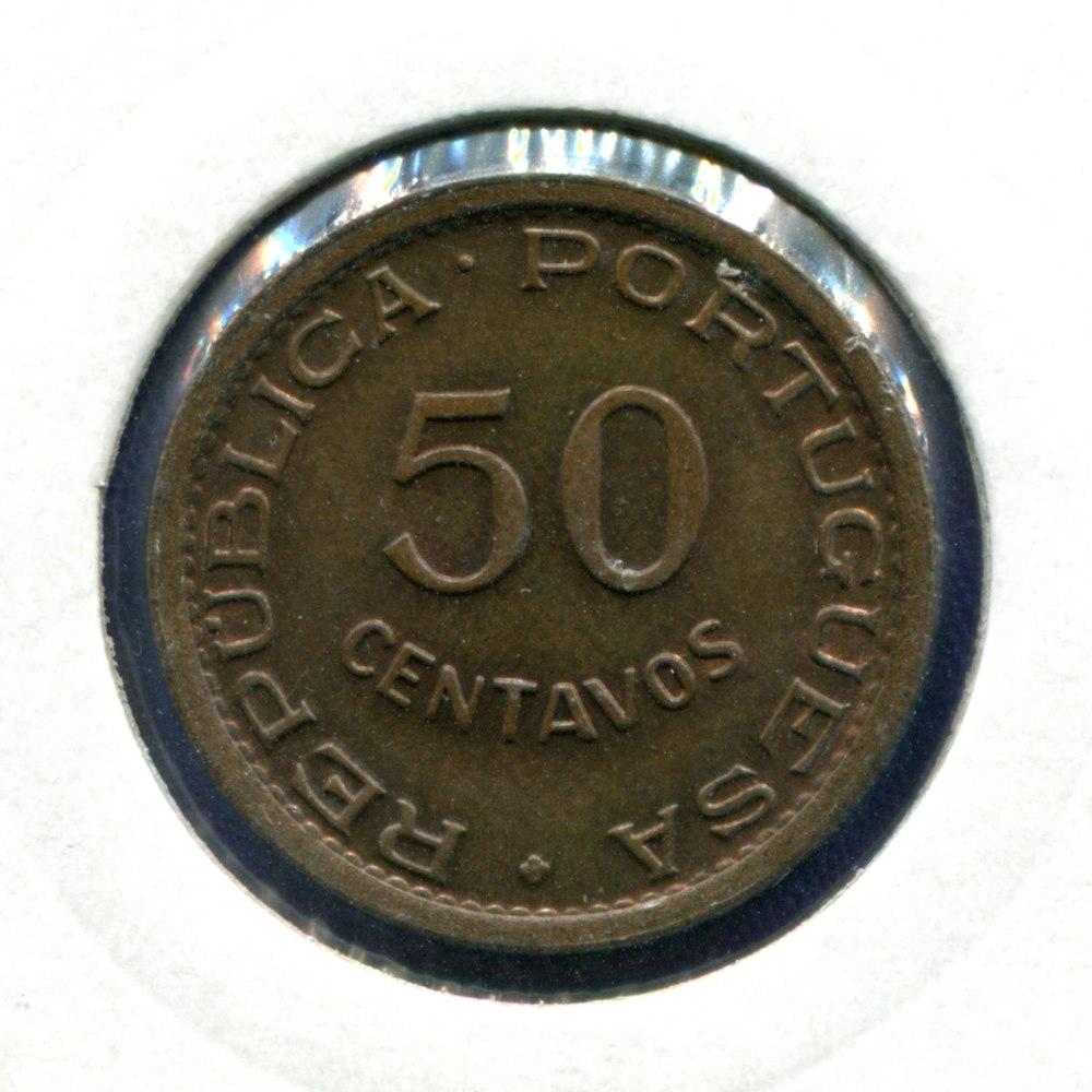 Португальская Гвинея 50 сентаво 1952 UNC  - 1