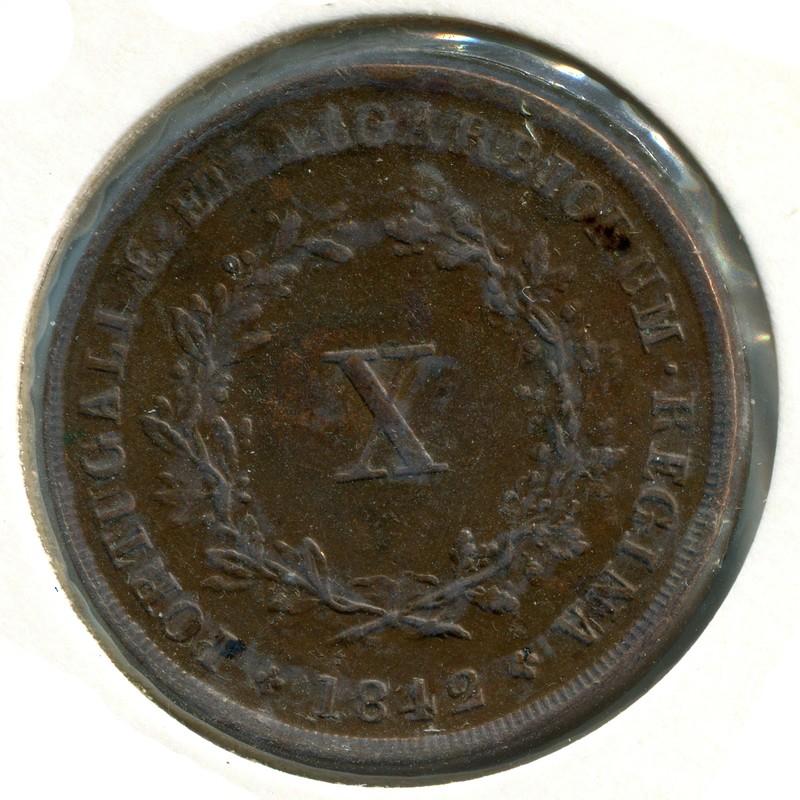 Португалия 10 рейсов 1842 #481 - 1