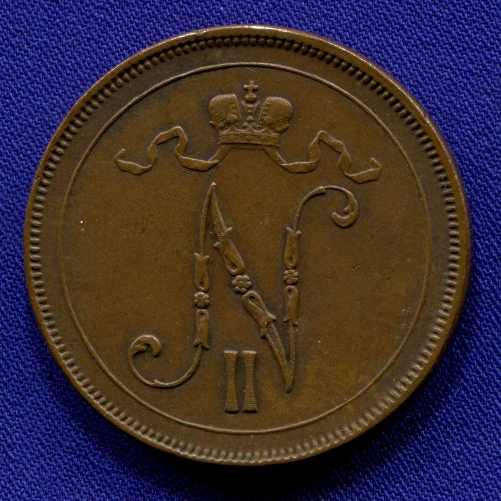 Николай II 10 пенни 1897 aUNC - 1