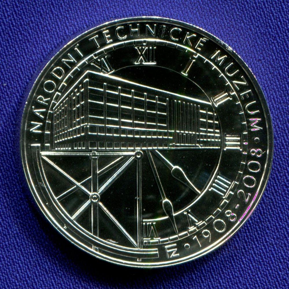 Чехия 200 крон 2008 UNC 100 лет Национальному техническому музею  - 1