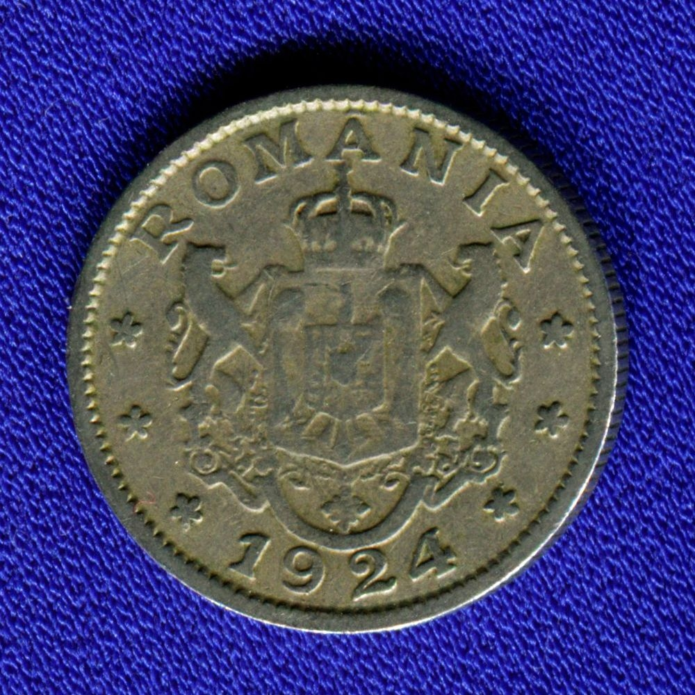 Румыния 1 лей 1924 VF  - 1