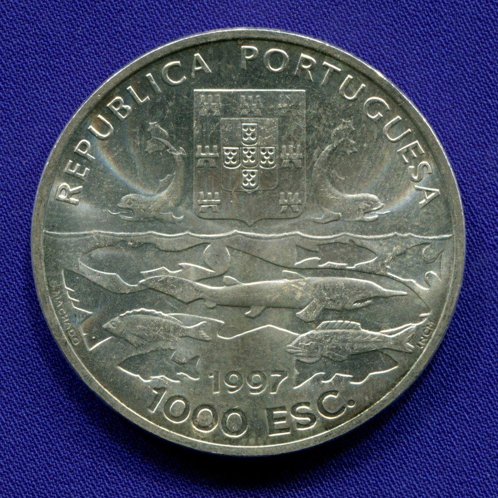 Португалия 1000 эскудо 1997 aUNC 100 лет океанографическим экспедициям  - 1