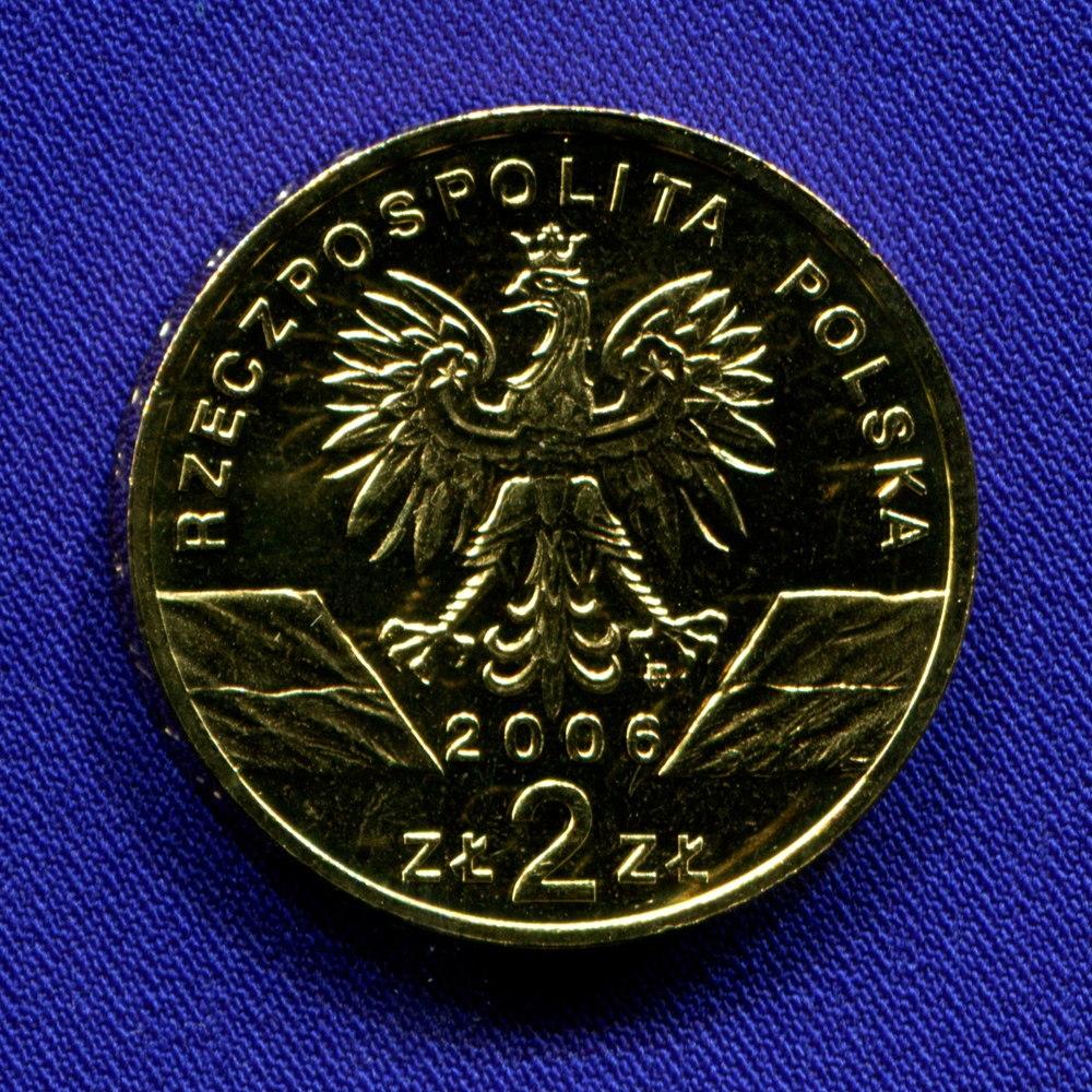 Польша 2 злотых 2006 UNC Альпийский сурок  - 1