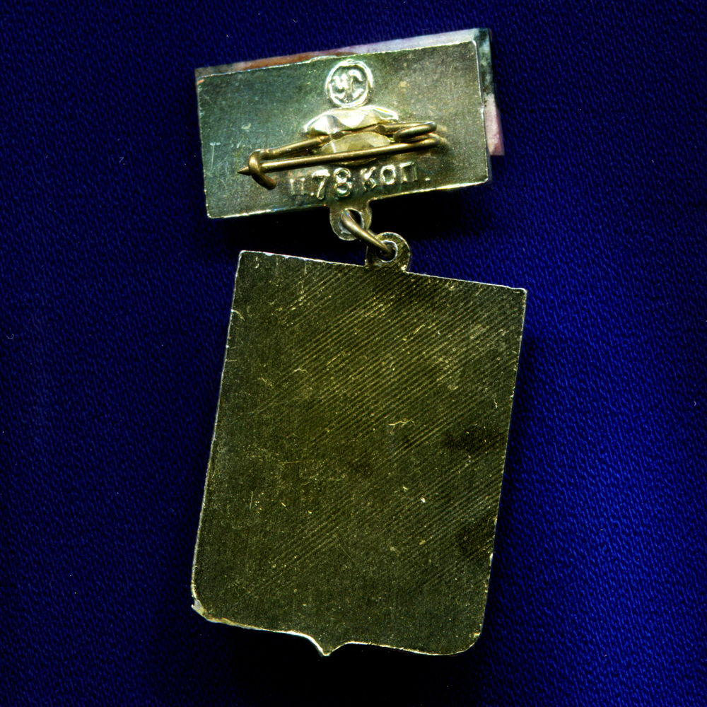 Значок «Талица» Подвес Алюминий Камень  УС Булавка - 1