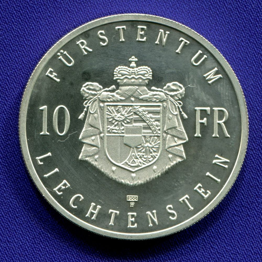 Лихтейнштейн 10 франков 1990 Proof Ганс Адам II  - 1