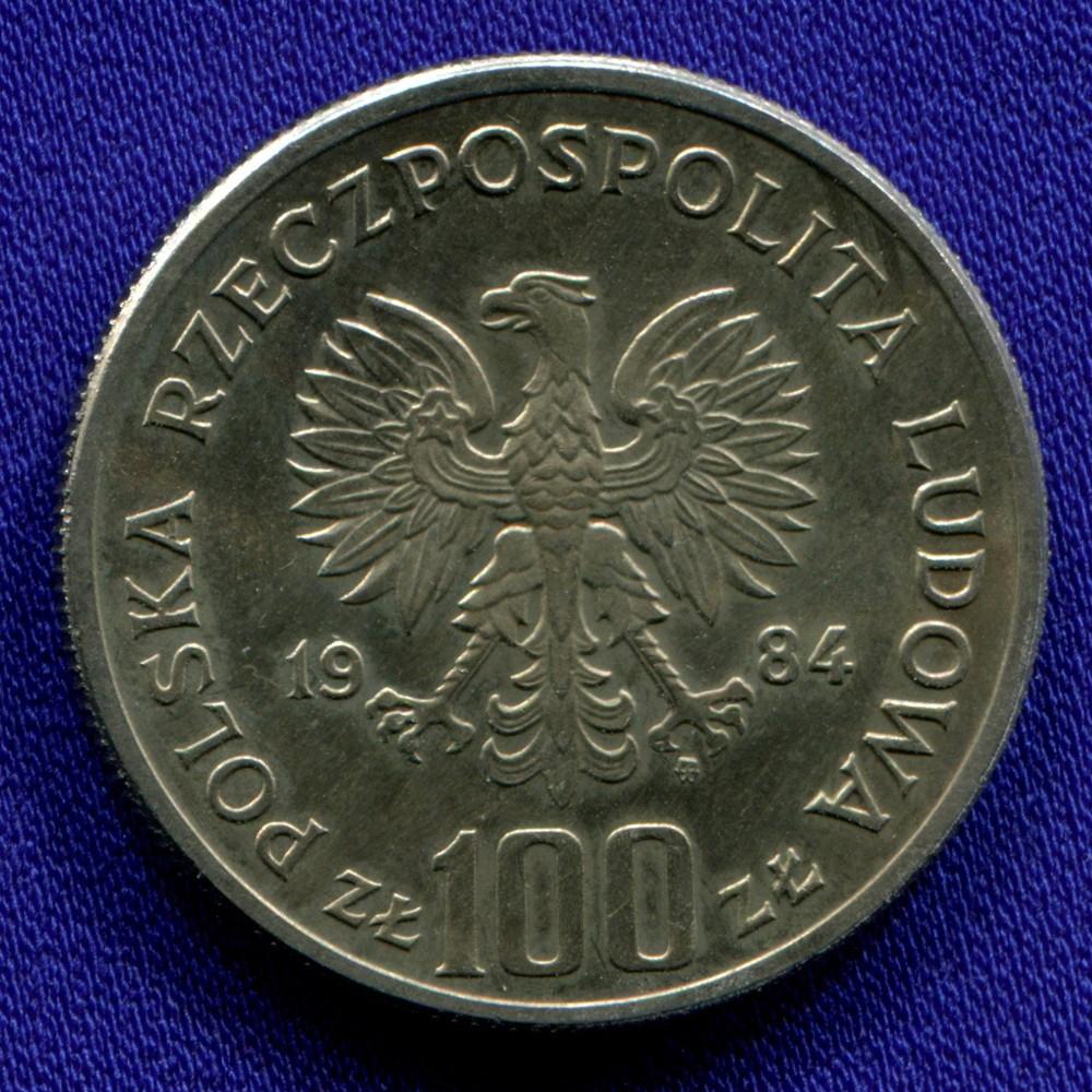 Польша 100 злотых 1984 UNC - 1