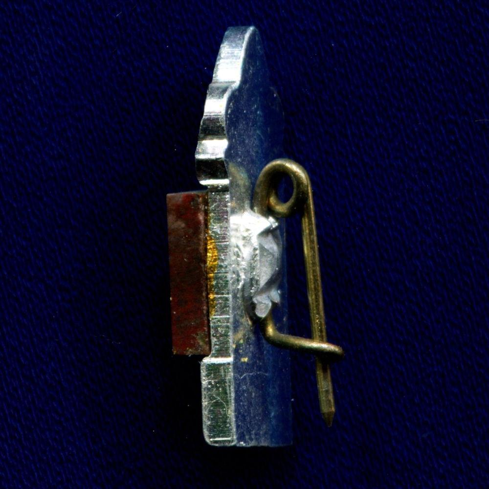 Значок «Европа Азия» Легкий металл Камень  Булавка - 1