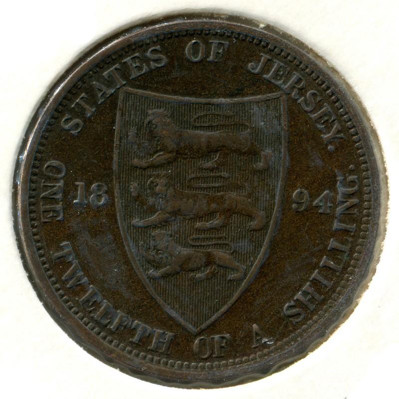Джерси 1/12 шиллинга 1894 #8 - 1