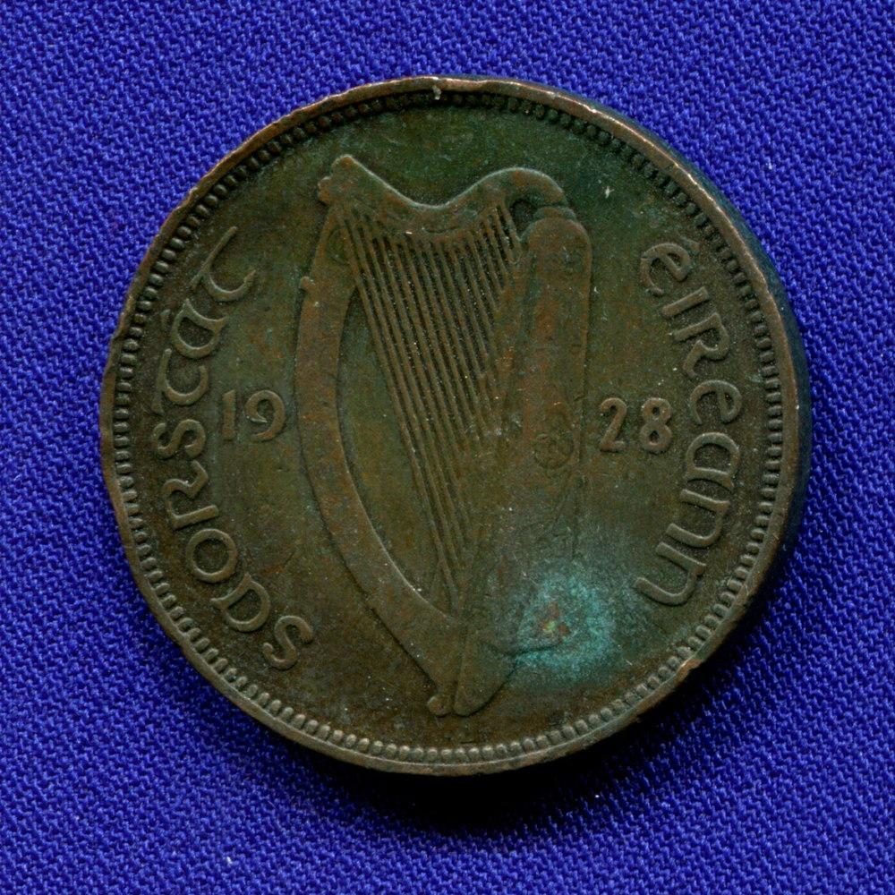 Ирландия 1/2 пенни 1928 F - 1
