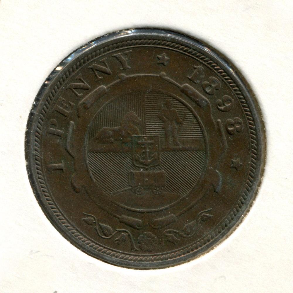 Южная Африка 1 пенни 1898 VF  - 1