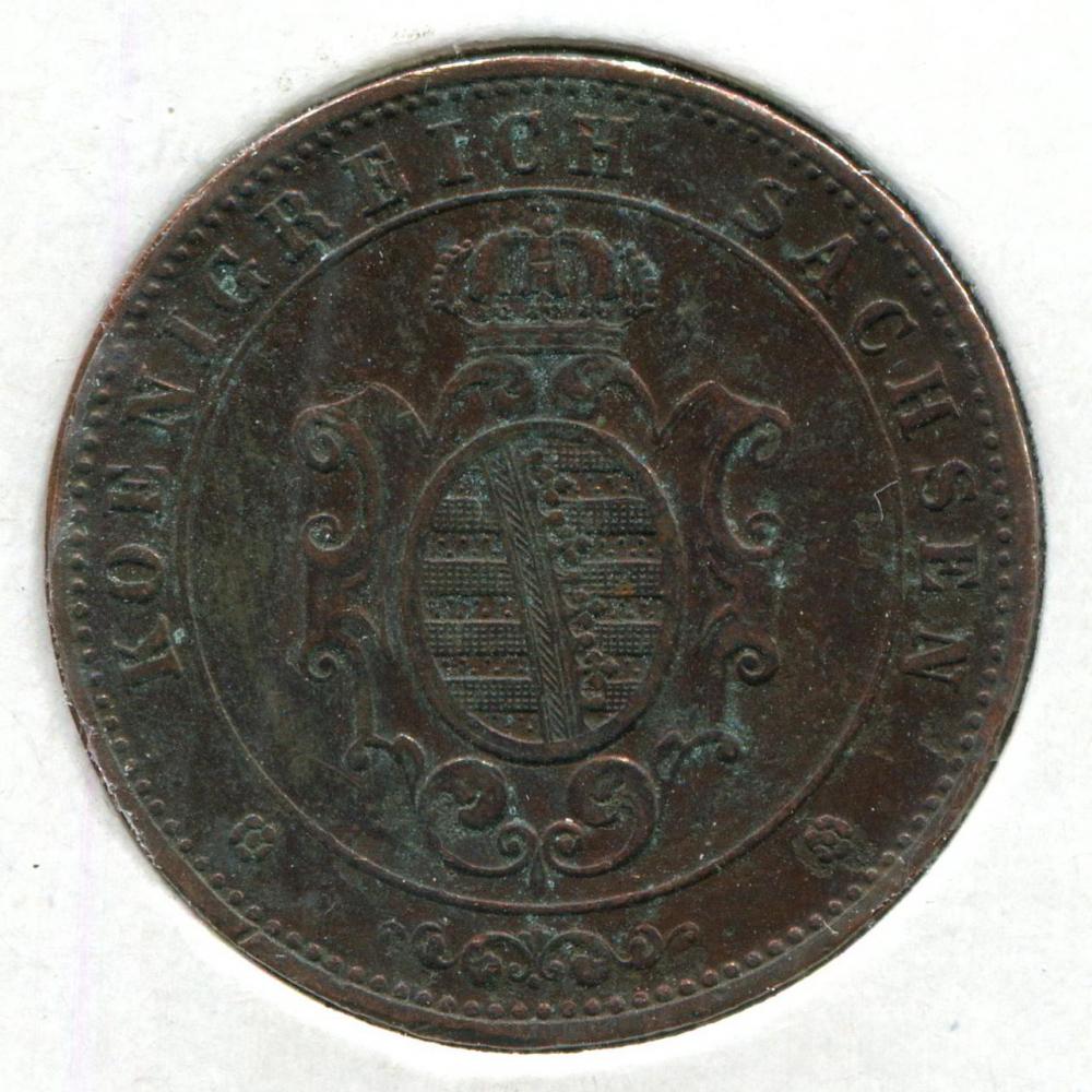 Германия/Саксония 5 пфенингов 1869 VF  - 1