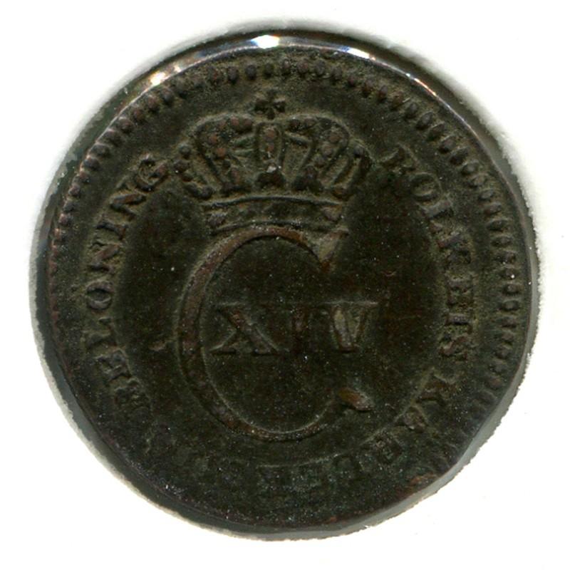 Швеция 1/12 скиллинга 1825 #616 VF - 1