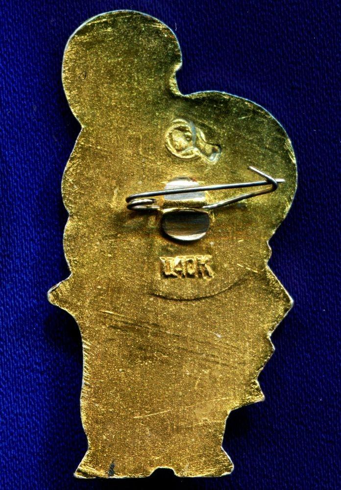 Детский значок «Кот в сапогах» Легкий металл Булавка - 1