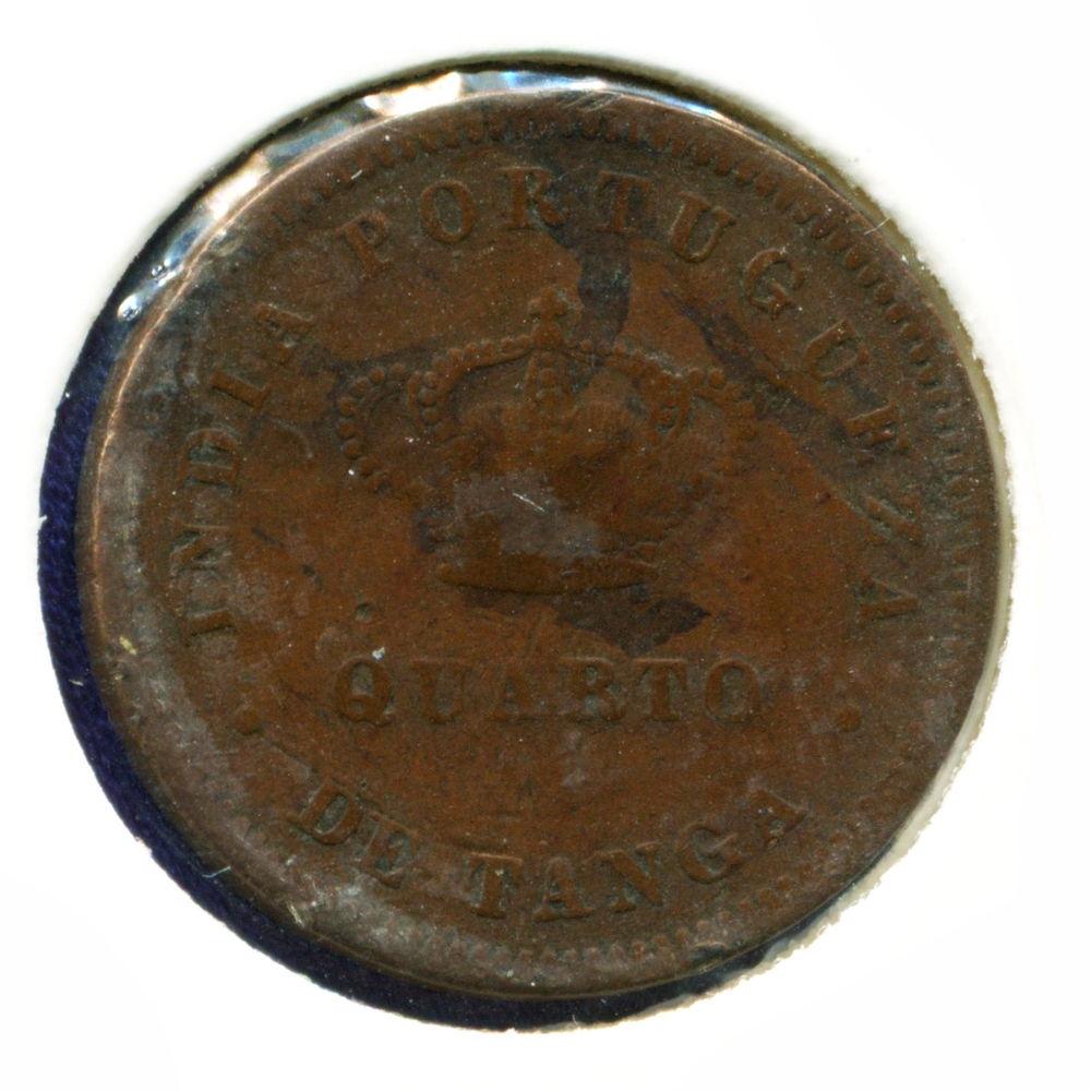 Португальская Индия 1/4 танга 1881 F - 1